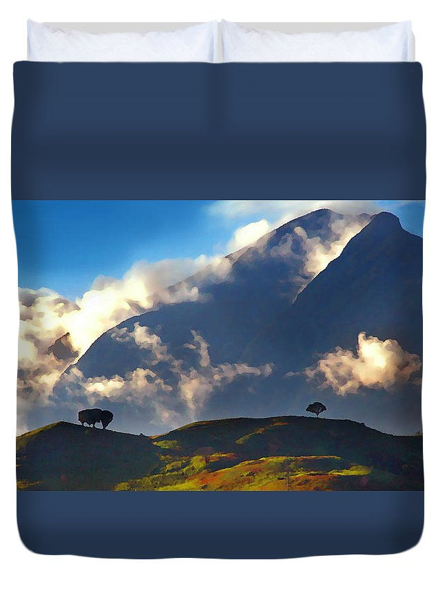 Avila Duvet Cover featuring the photograph Avila From The East by Bibi Rojas