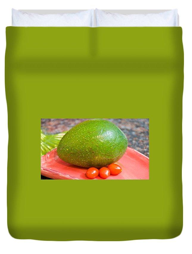 Avocado Duvet Cover featuring the digital art Avocado by Bert Mailer