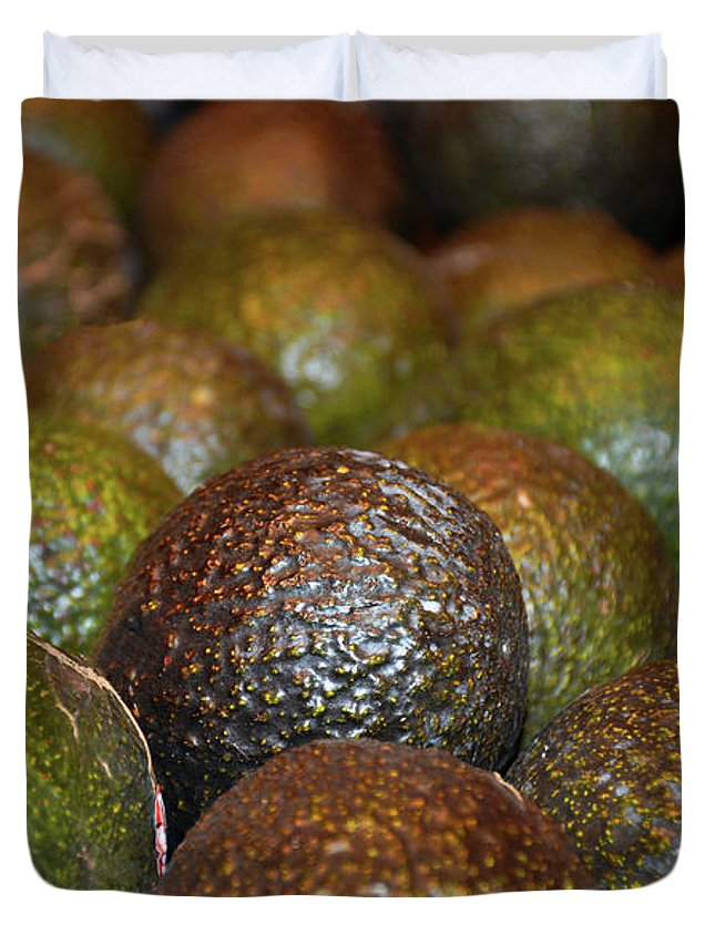 Avocados Duvet Cover featuring the photograph Avocados by Robert Meyers-Lussier