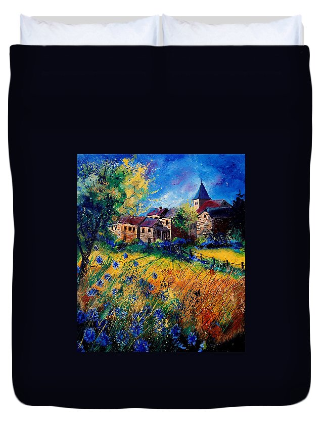 Tree Duvet Cover featuring the painting Awagne 67 by Pol Ledent
