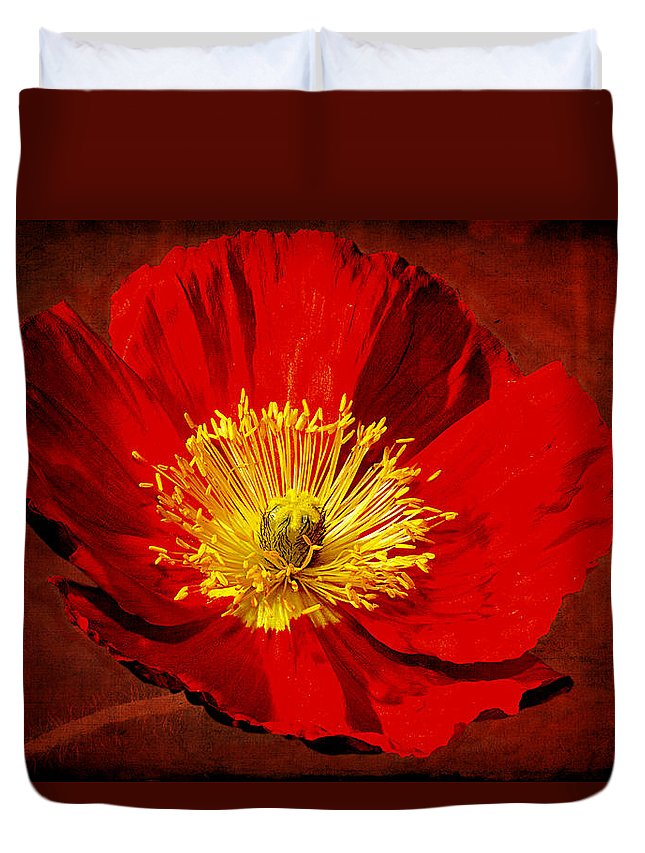 Poppy Duvet Cover featuring the photograph Awake To Red by Phyllis Denton