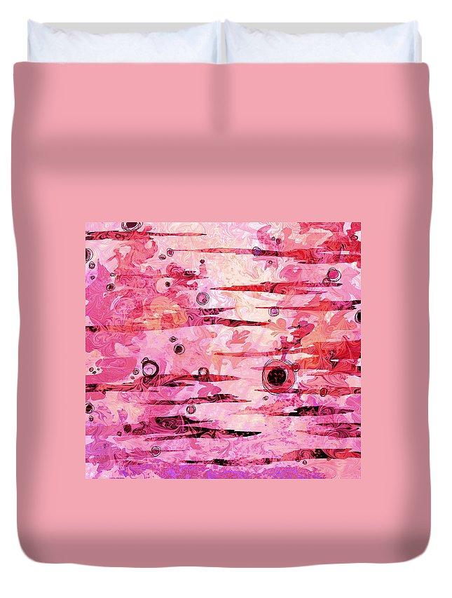 Abstract Duvet Cover featuring the digital art Awakened by Rachel Christine Nowicki