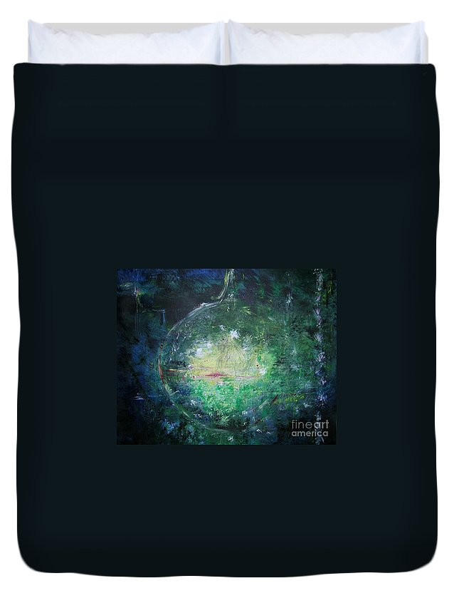 Abstract Duvet Cover featuring the painting Awakening Abstract II by Lizzy Forrester