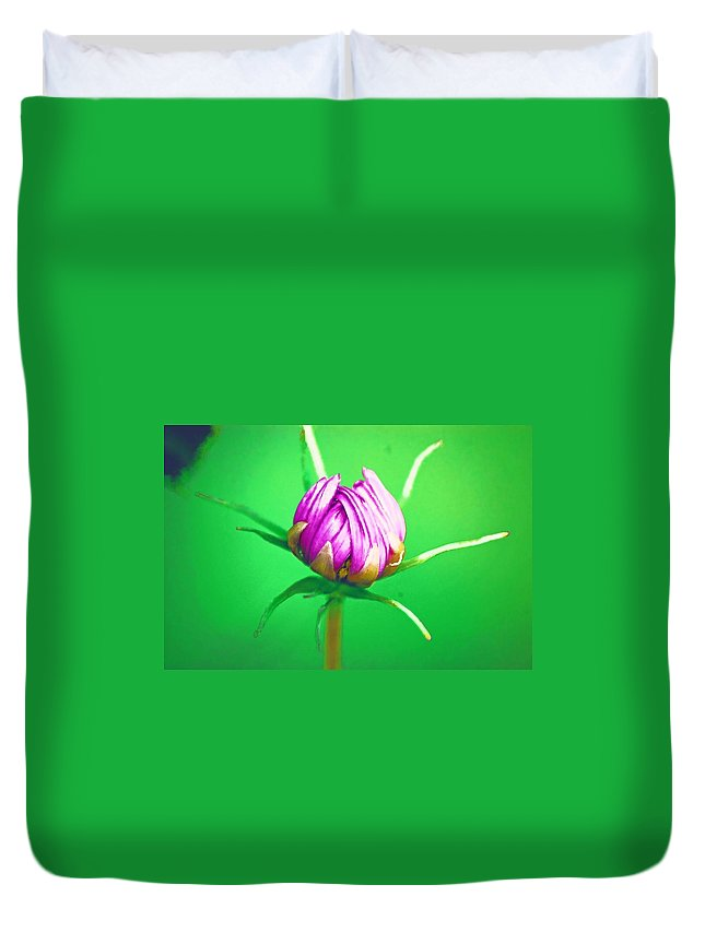 Flower Duvet Cover featuring the photograph Awakening by Donna Bentley