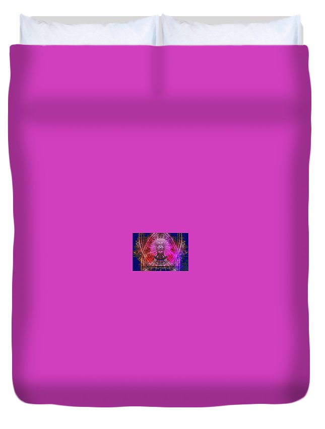 Spiritual Duvet Cover featuring the digital art Aware by Melissa Nay
