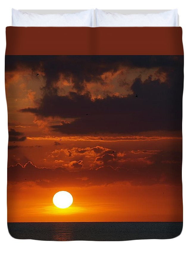 Florida Duvet Cover featuring the photograph Island Sunset by Jeffery Akerson