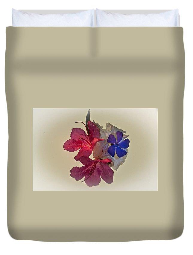 Azalea Duvet Cover featuring the photograph Azalea Bouquet Majic by Douglas Barnett