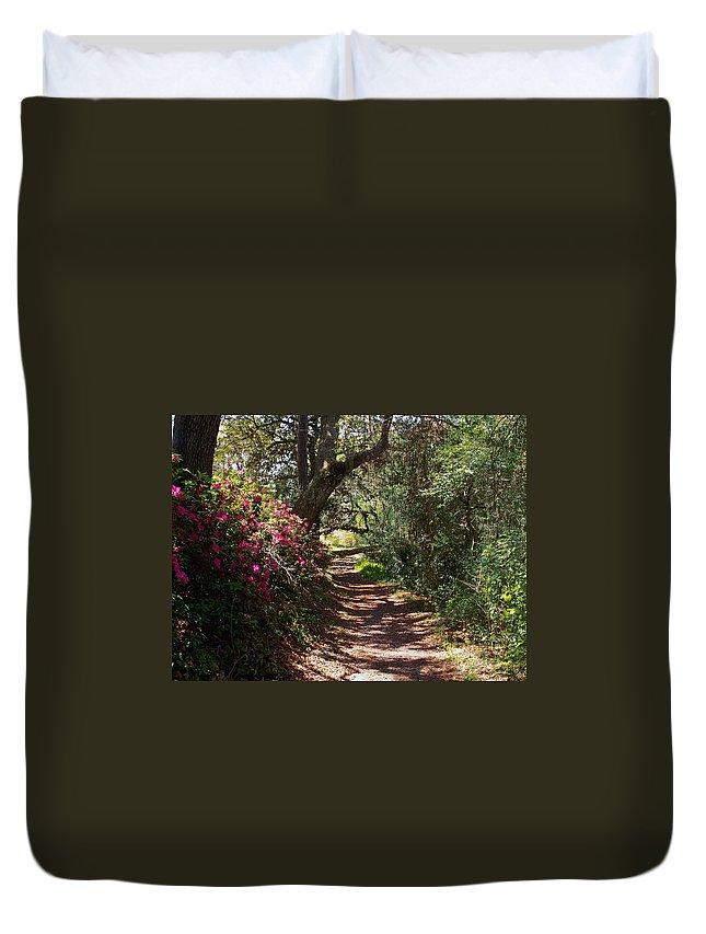 Azalea Duvet Cover featuring the photograph Azalea Path by Bob Johnson