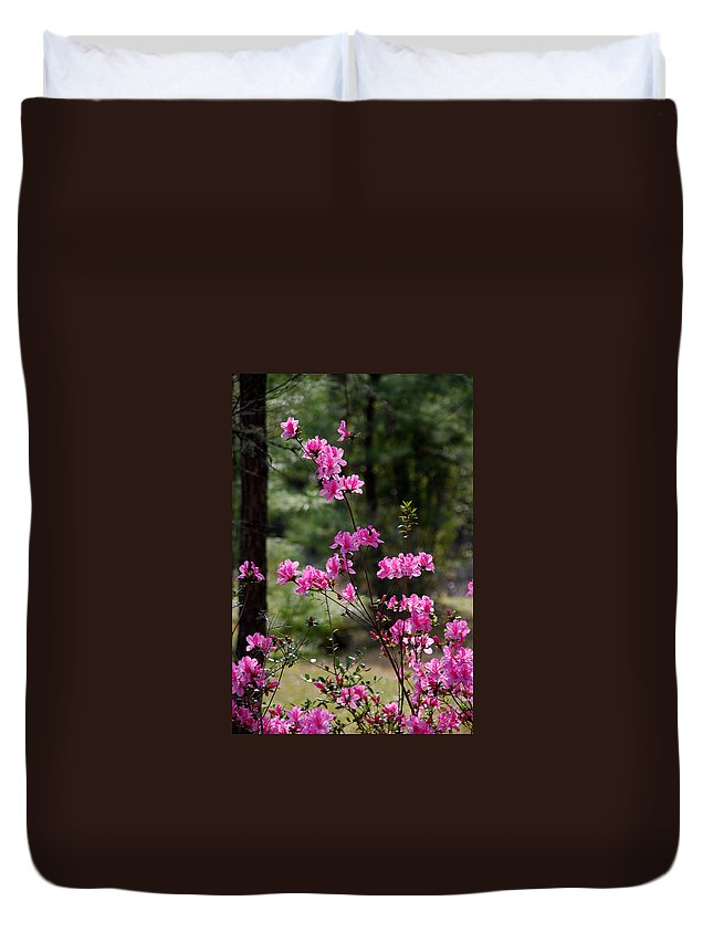 Spring Flower Duvet Cover featuring the photograph Azaleas II by Susanne Van Hulst