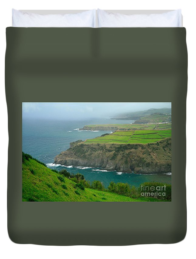 Azores Duvet Cover featuring the photograph Azores Coastal Landscape by Gaspar Avila