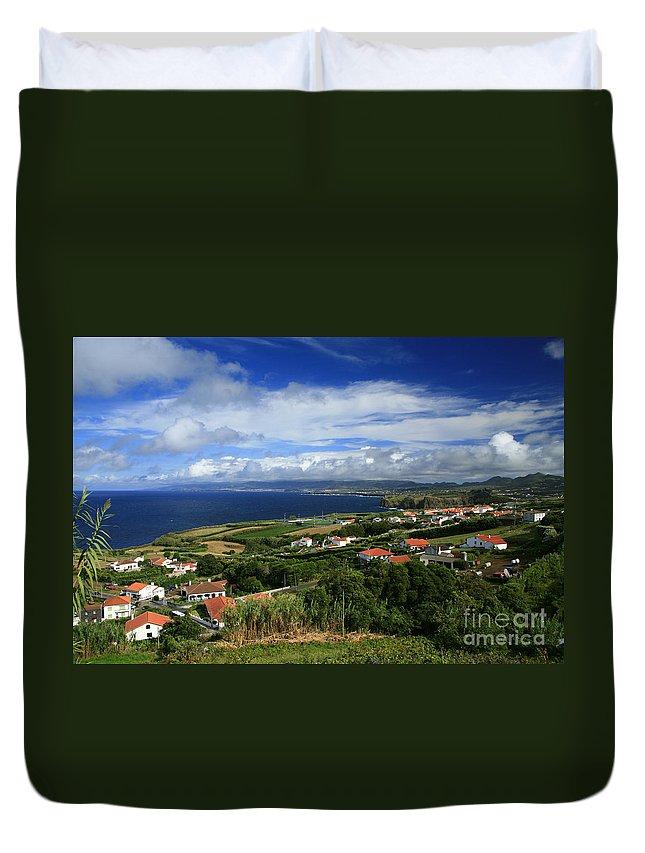 Archipelago Duvet Cover featuring the photograph Azores Islands Landscape by Gaspar Avila