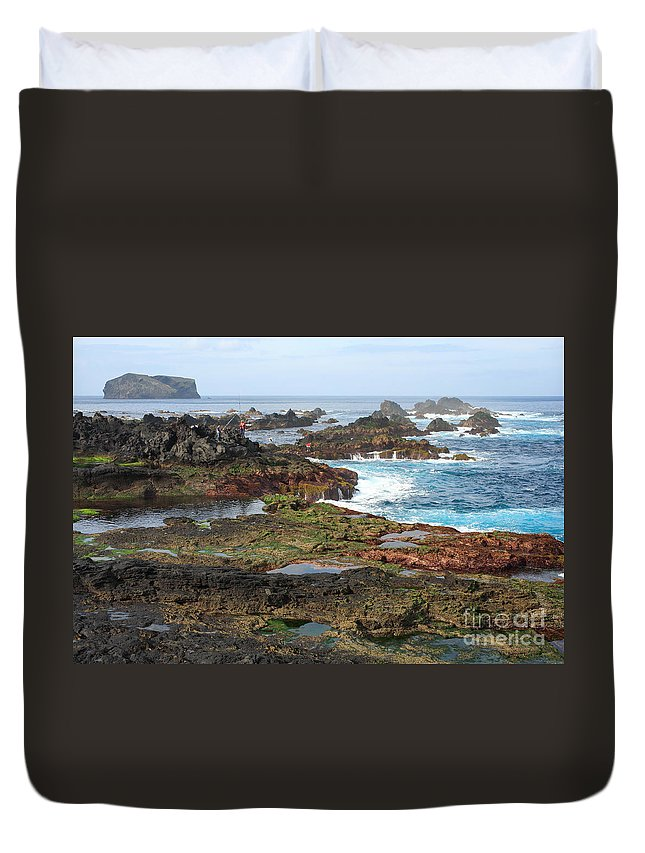 Atlantic Duvet Cover featuring the photograph Azores Seascape by Gaspar Avila