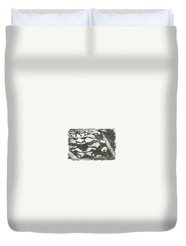 Abstract Duvet Cover featuring the photograph B And W by Alwyn Glasgow