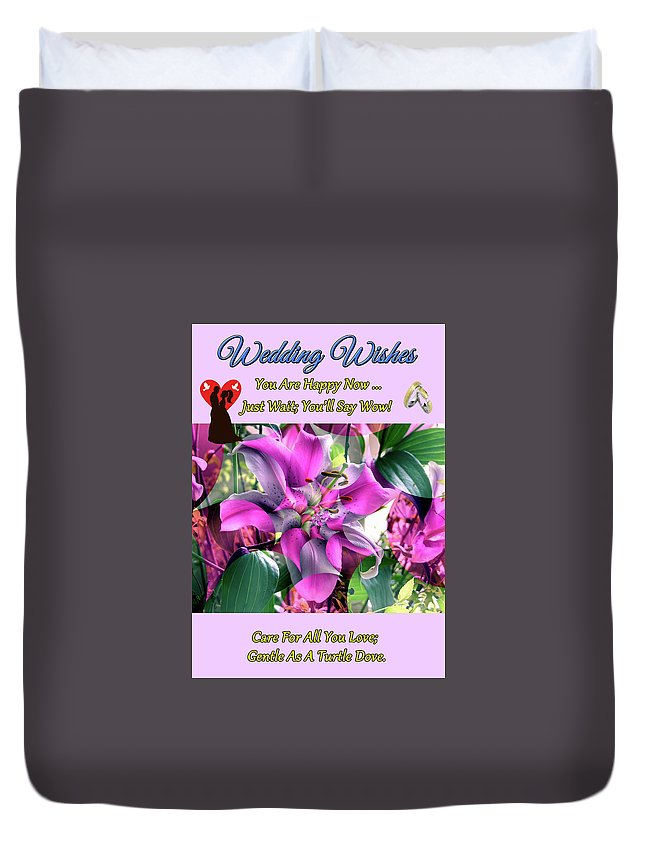 Art Duvet Cover featuring the digital art B Exton Flowering Of Delights Bigstock 164301632 2991949 by Mitchell Watrous