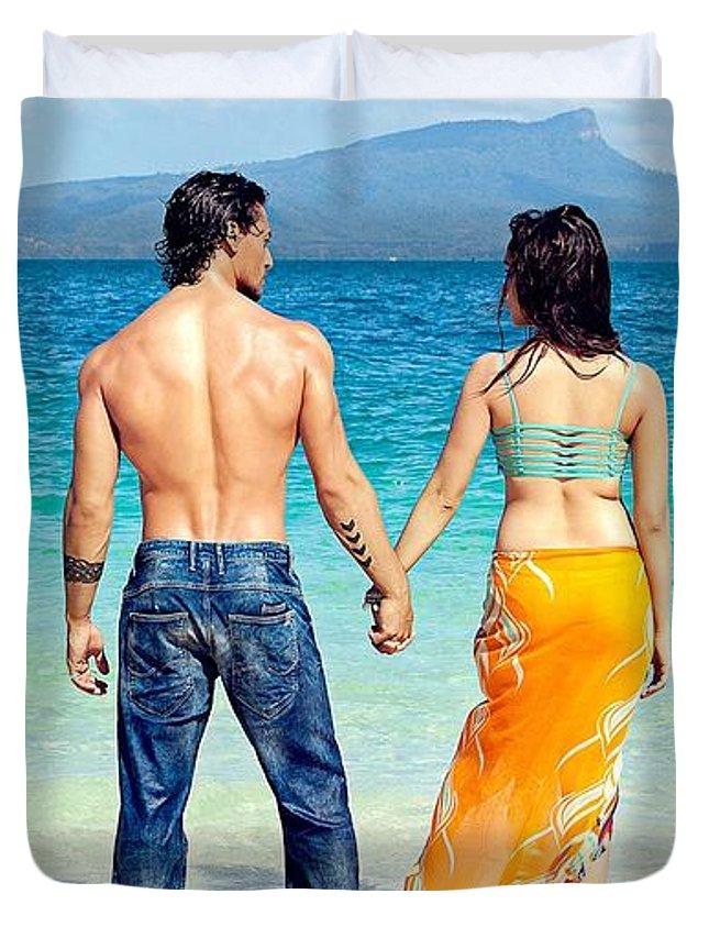 Baaghi Tiger Shroff Shraddha Kapoor Duvet Cover For Sale By Karen Ford Rh Fineartamerica Com
