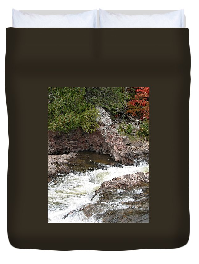 River Duvet Cover featuring the photograph Babbling by Kelly Mezzapelle