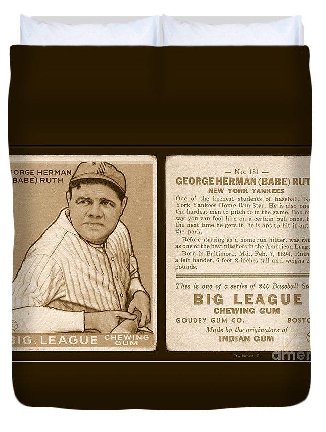 Babe Ruth 1933 Baseball Card Duvet Cover