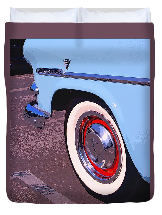Pdhs Vintage Cars Duvet Cover featuring the photograph Baby Blue by William Dey