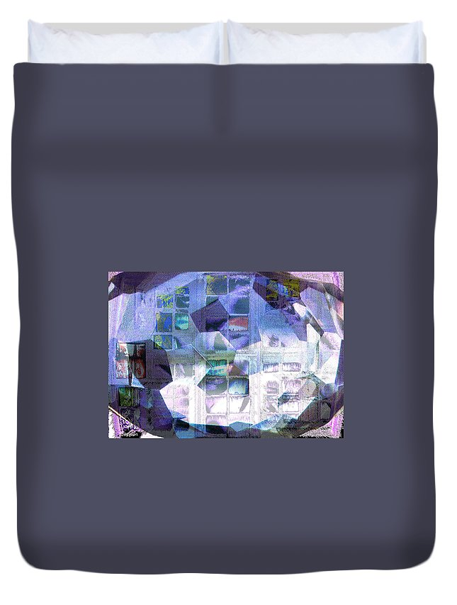 Windows Duvet Cover featuring the digital art Baby Its Cold Outside by Seth Weaver