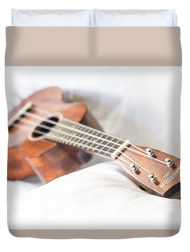 Gretsch Duvet Cover featuring the photograph Babydoll by Keith May