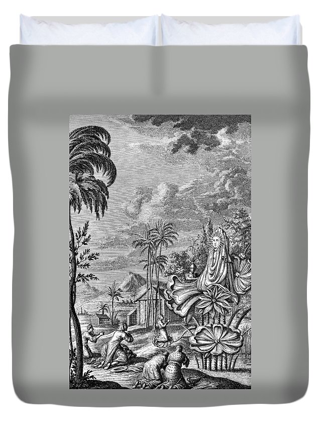 Ancient Duvet Cover featuring the photograph Babylon: Sun Worship by Granger