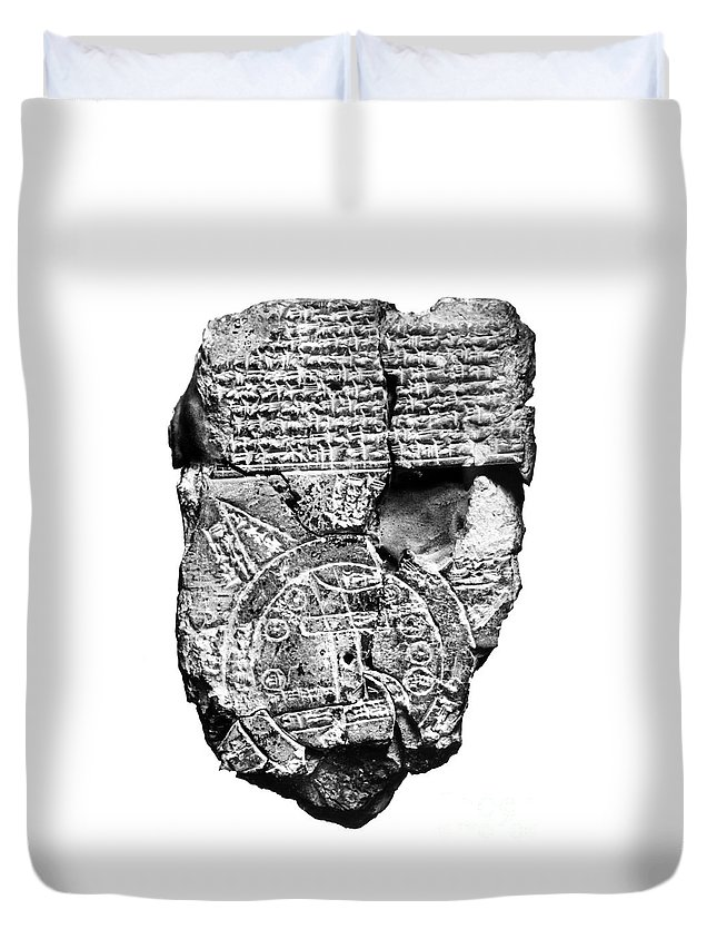 2300 B.c Duvet Cover featuring the photograph Babylonian World Map by Granger