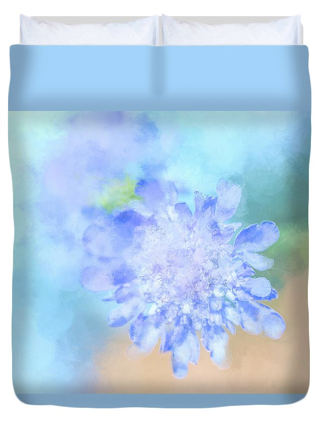 Pink Duvet Cover featuring the digital art Baby's Breath by Terry Davis