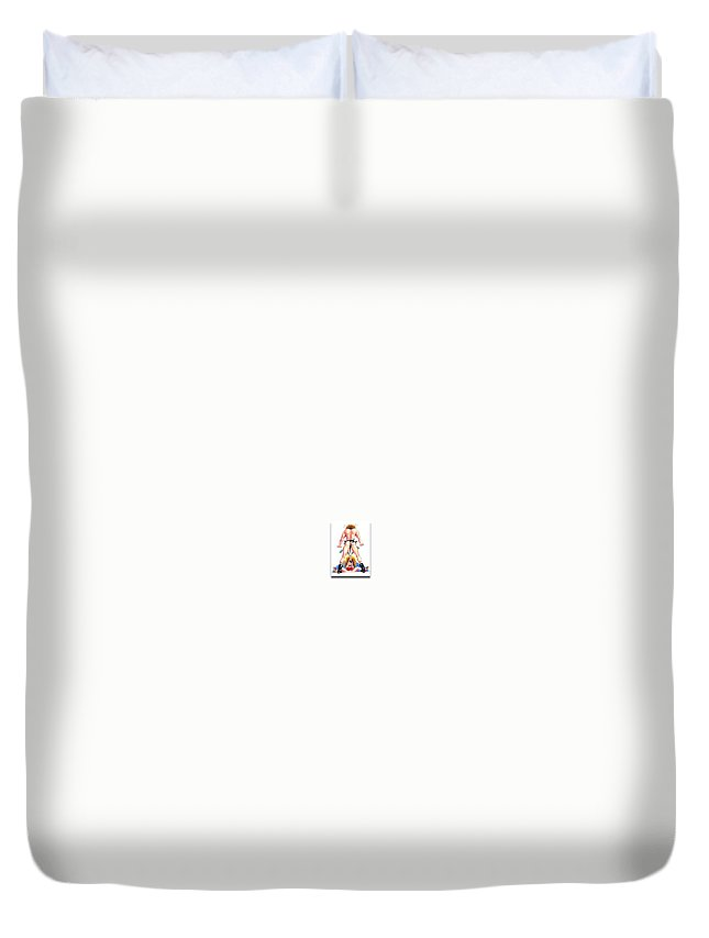 Humor Get Even Duvet Cover featuring the drawing Bachelorette Party by Bruce Lennon