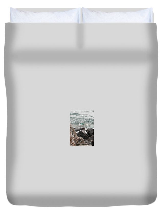 Wave Duvet Cover featuring the photograph Back Swirl by Kelly Mezzapelle