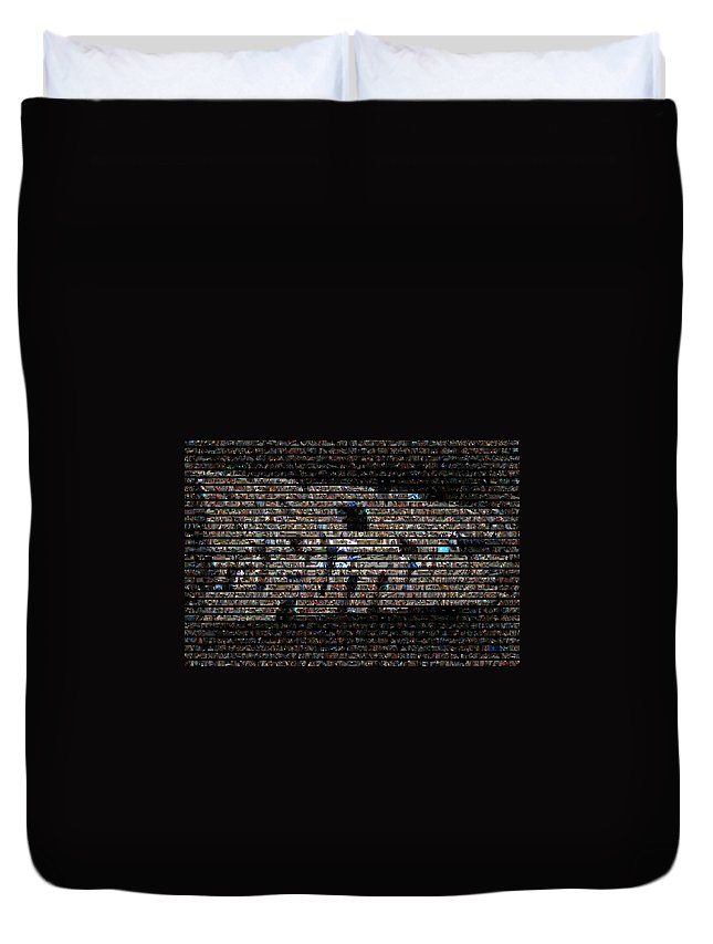 Bttf Duvet Cover featuring the photograph Back To The Future Mosaic by Paul Van Scott