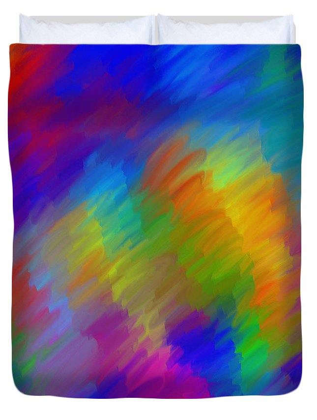 Background Duvet Cover featuring the digital art Background No.14.0 by Abdulaziz Butaiban