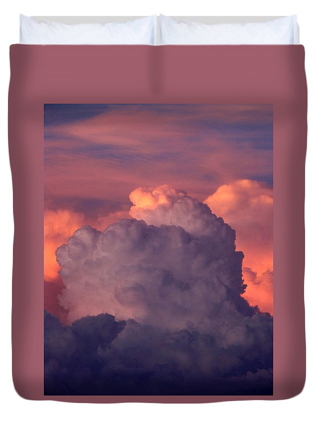 Clouds Duvet Cover featuring the photograph Backyard Sky by Cathy Franklin