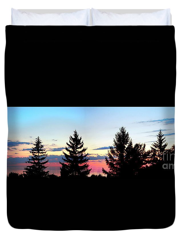 Grand Bend Duvet Cover featuring the photograph Backyard View by John Scatcherd
