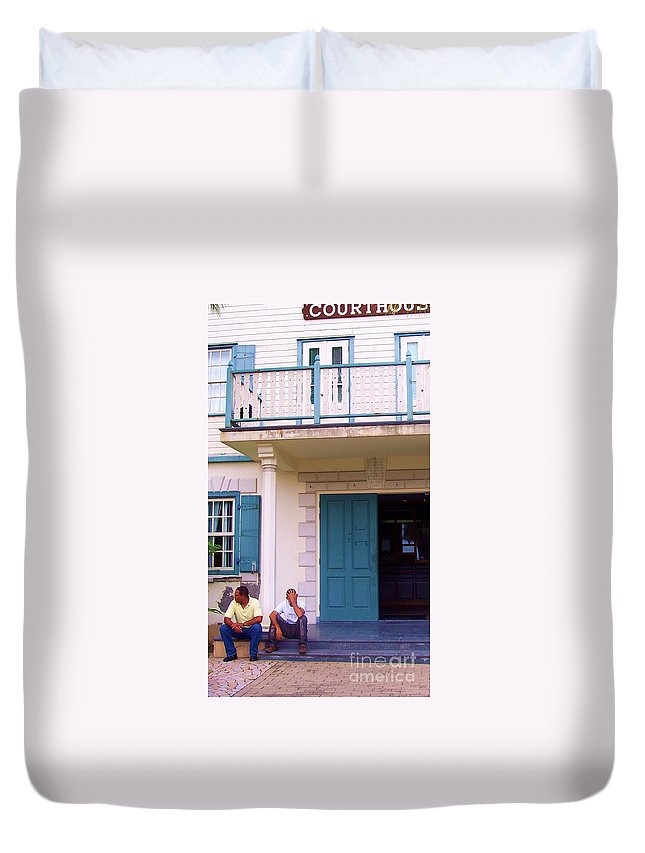Building Duvet Cover featuring the photograph Bad Day In Court by Debbi Granruth