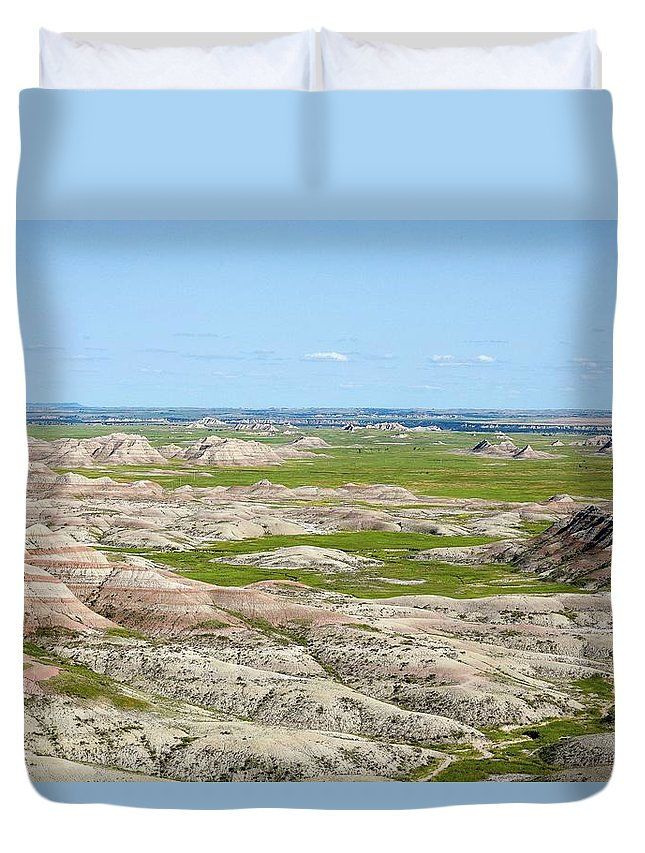 Badland Duvet Cover featuring the photograph Badland by Hyuntae Kim