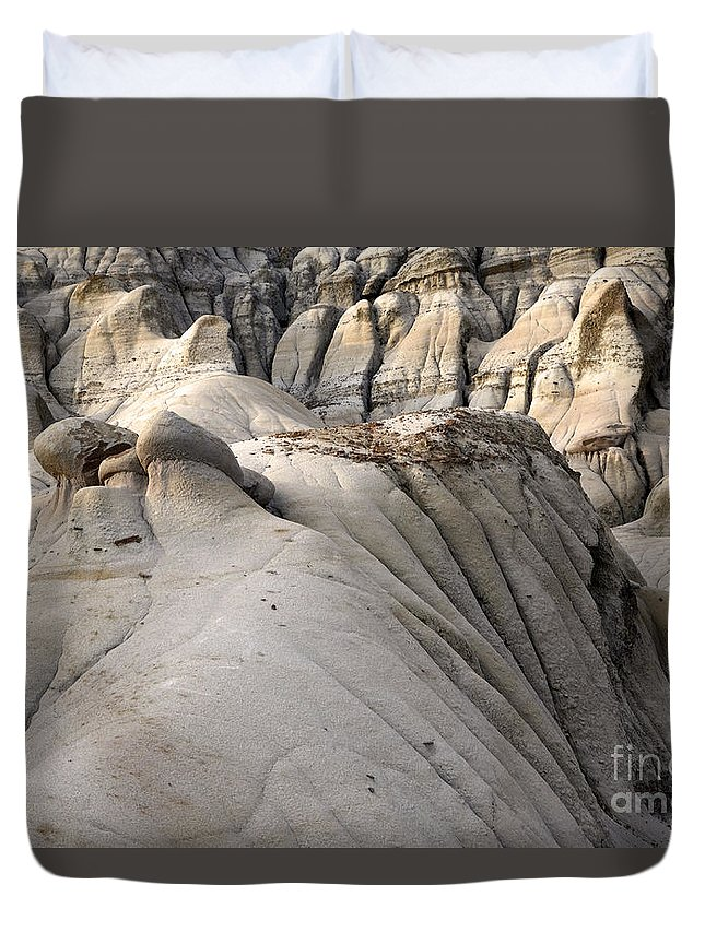Drumheller Duvet Cover featuring the photograph Badlands Drumheller Alberta Canada 7 by Bob Christopher