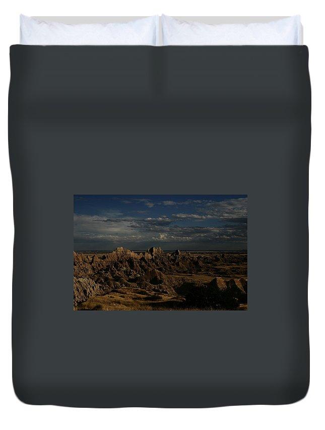 Badlands Duvet Cover featuring the photograph Badlands National Park by Benjamin Dahl