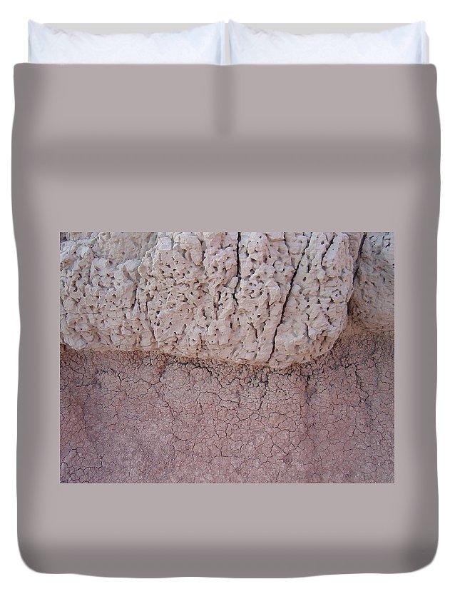 Badlands Duvet Cover featuring the photograph Badlands Up Close by Caroline Kohler