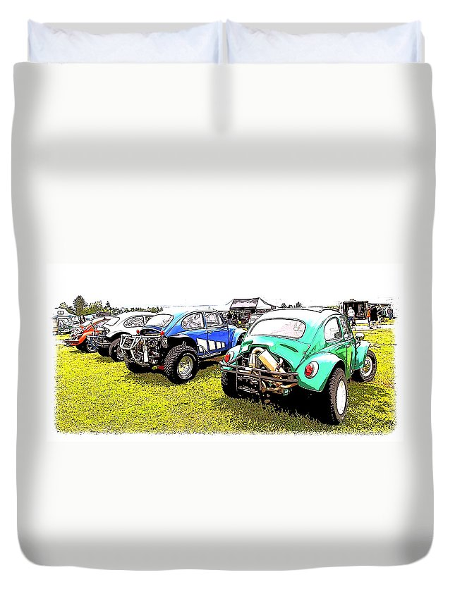 Volkswagen Duvet Cover featuring the photograph Baja Row by Steve McKinzie