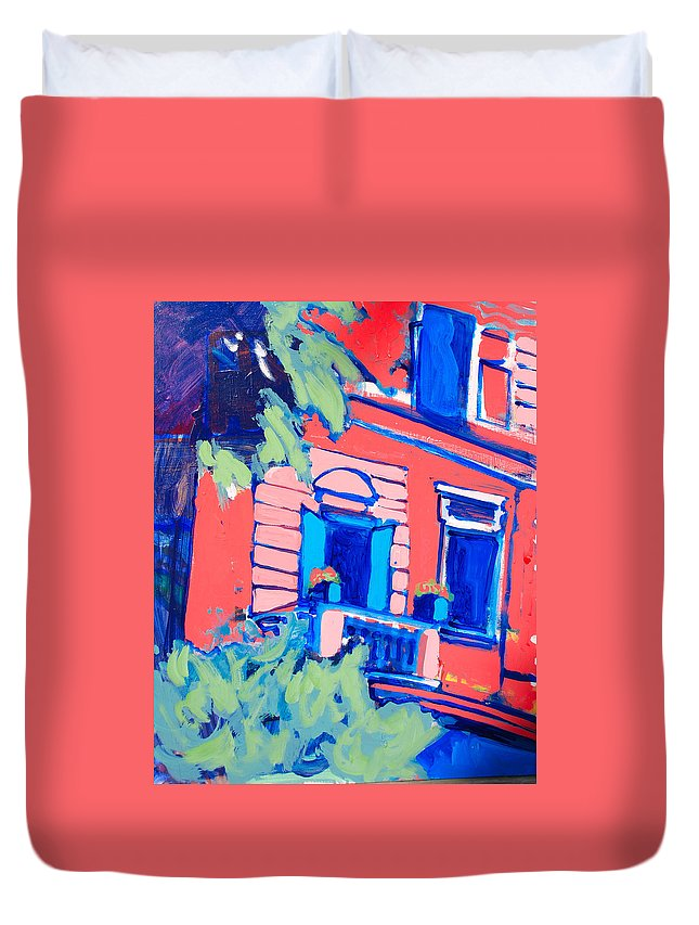 Balcony Duvet Cover featuring the painting Balcone by Kurt Hausmann