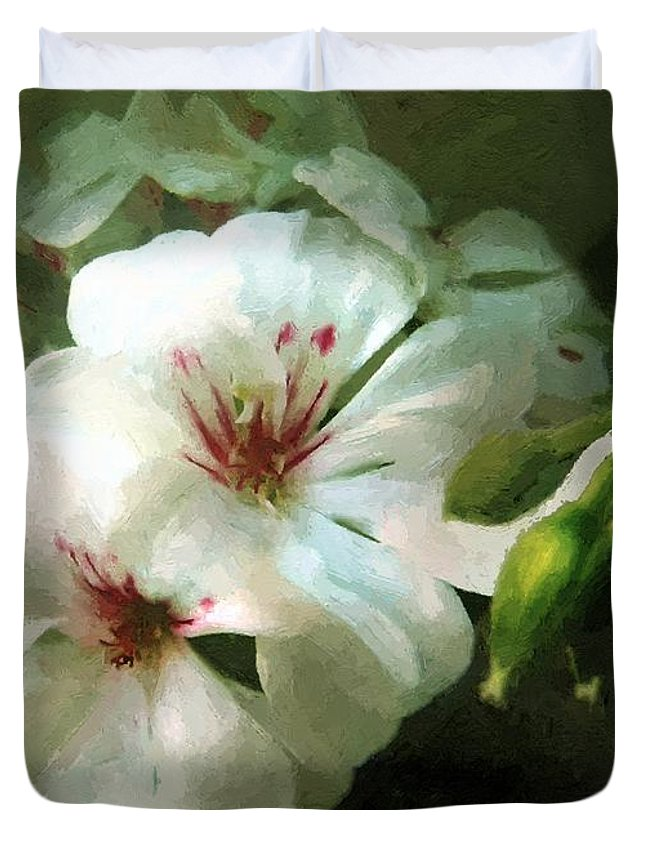 Classical Duvet Cover featuring the painting Balcony Beauty by RC DeWinter