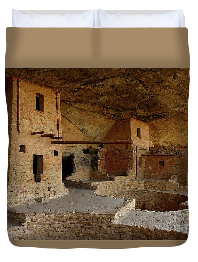 Mesa Duvet Cover featuring the photograph Balcony House View by Christiane Schulze Art And Photography