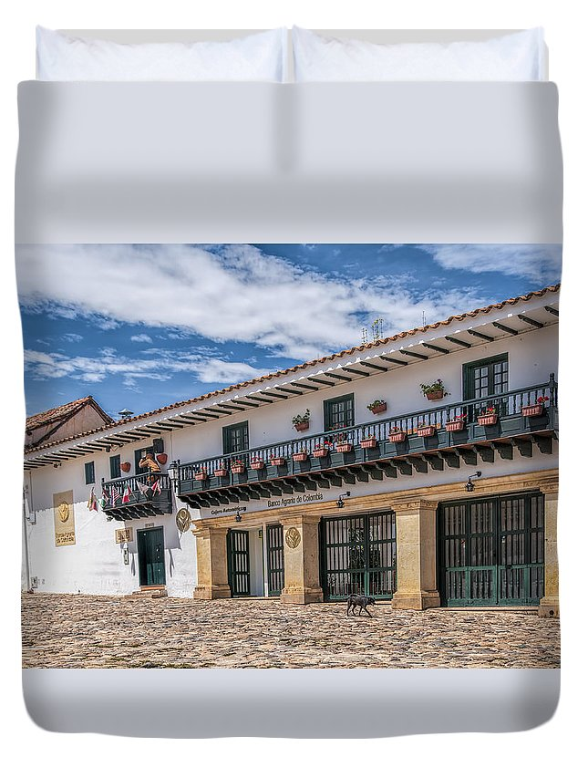 Architecture Landscape Nature Towns Old Villas Towns Duvet Cover featuring the photograph Balcony by LOsorio Photography