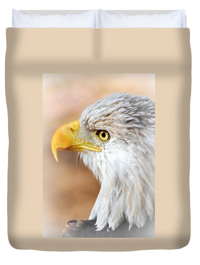 Eagle Duvet Cover featuring the photograph Bald Eagle 15 by Marty Koch