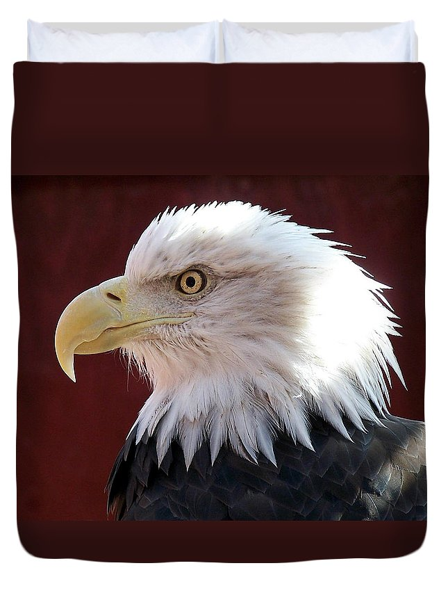Animal Duvet Cover featuring the photograph Bald Eagle by Ernie Echols