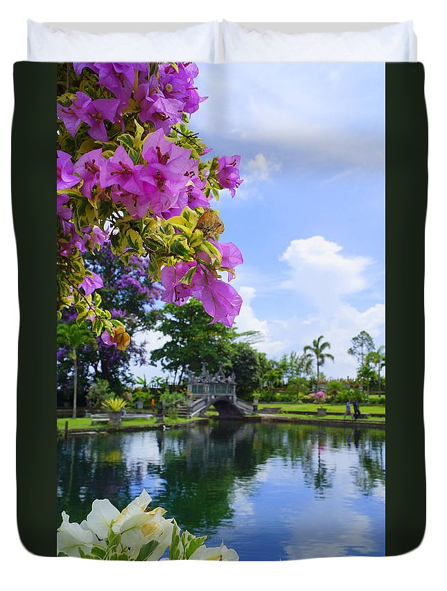 Duvet Cover featuring the photograph Bali Reflections by Todd Hummel