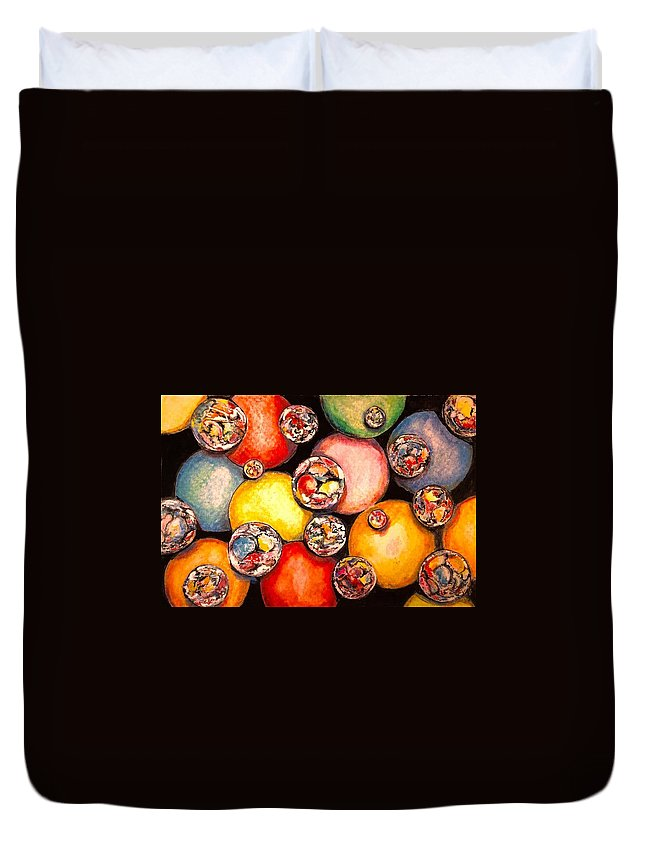 Ball Duvet Cover featuring the painting Ball Box by Jim Hutchinson