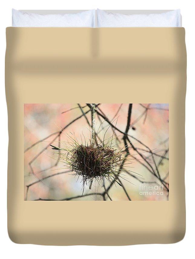 Ball Moss Duvet Cover featuring the photograph Ball Moss by Carol Groenen