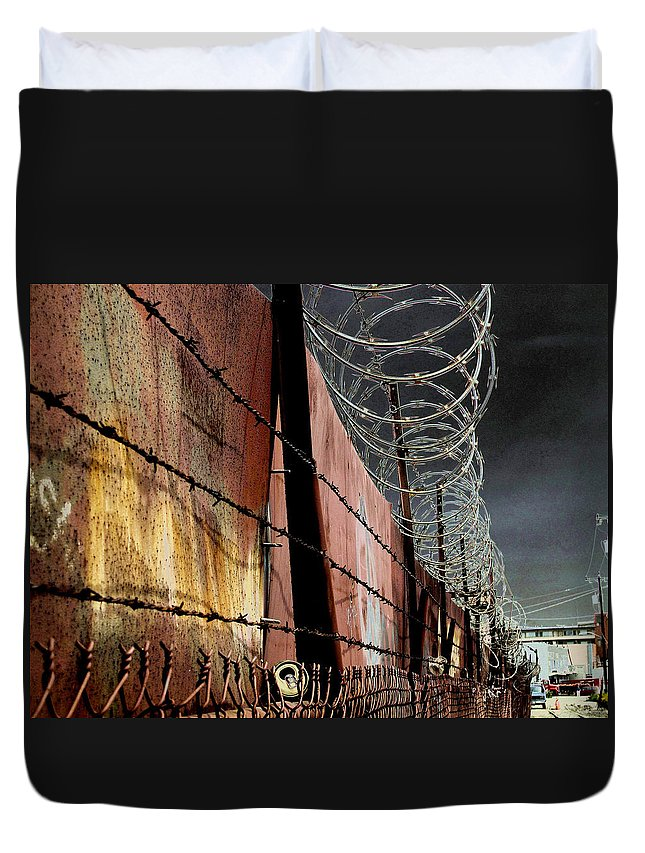 Wall Duvet Cover featuring the photograph Ballard In Seattle by Jeff Burgess
