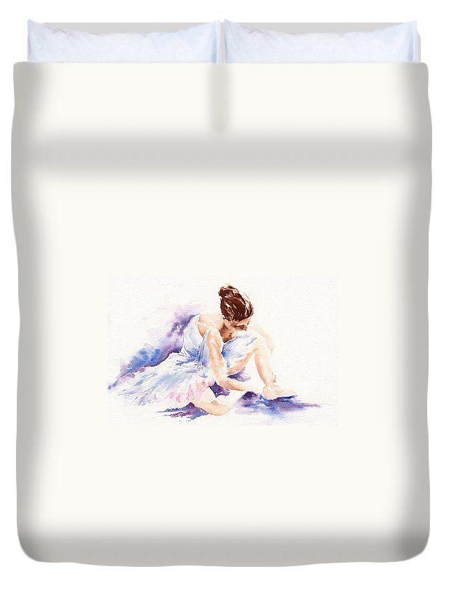 Ballerina Duvet Cover featuring the painting Ballerina by Stephie Butler